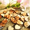 100pcs Love 15mm wooden hearts confetti